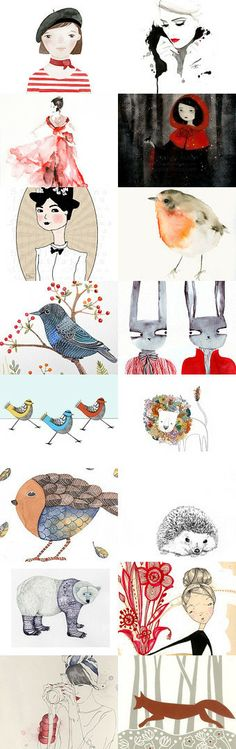 illustration time by Paula on Etsy--Pinned with TreasuryPin.com