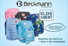 Image for Skolesekker - reserver i bokhandel med Klikk og hent from Norli Backpacks, Bags, Handbags, Backpack, Backpacker, Bag, Backpacking, Totes, Hand Bags