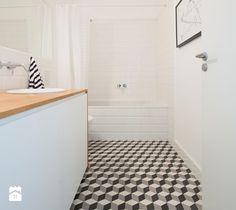 52m, Kamionek, Wwa - Średnia łazienka bez okna, styl skandynawski - zdjęcie od DZIURDZIAprojekt