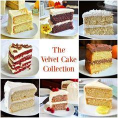 The Velvet Cake Collection from red velvet to lemon or white velvet plus other great versions of this fantastic recipe.