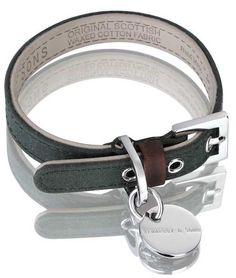 Hennessy & Sons Scottish Waxed Cotton Green Dog Collar