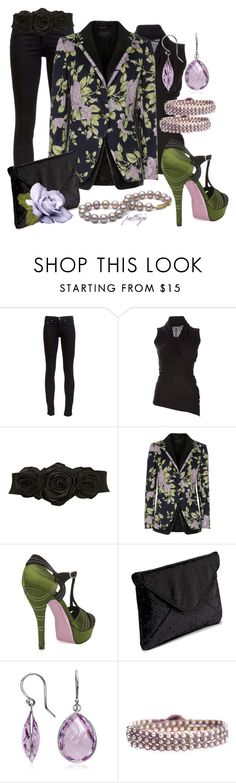 """""""This Bud's for You"""" by rockreborn ❤ liked on Polyvore featuring rag & bone, Rick Owens, Miss Selfridge, Zoraide, Friis & Company, Blue Nile, BijouxBar by Vivien Frank and floral blazers"""