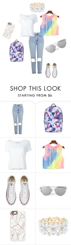 """""""Sin título #31"""" by clara-bidault on Polyvore featuring moda, Topshop, Accessorize, Frame Denim, Converse, Casetify y Charlotte Russe"""