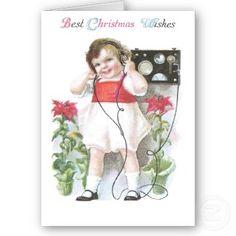 Ham Radio Antique Christmas card