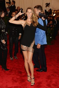 Gisele Bundchen in Anthony Vaccarello at the Punk: Chaos to Couture Met Gala