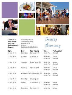 Maxine Show Cruise 2014 Itinerary