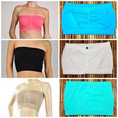 THE MINI MIRACLE TUBE TOP STRAPLESS SEAMLESS BANDEAU W/4-Way Stretch LONG & WIDE #NewMixSeamless #BandeauTubeTop