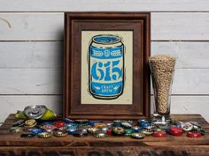 615 Craft Brew - Block Print