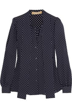 Michael Kors Polka dot-print georgette blouse NET-A-PORTER.COM