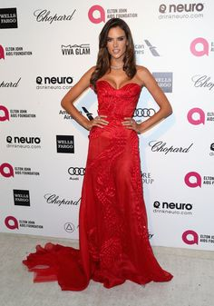 Pin for Later: Elton John's Star-Studded Oscars Bash Is Where the Party's At Alessandra Ambrosio
