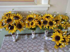 12 pc. Rustic / Country Wedding Silk Bridal Bouquet / Wedding Flowers  | mtfloral - Wedding on ArtFire