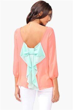 Waldorf Colorblock Blouse - Neon Pink