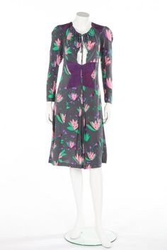 The print designer is selling the archive of dresses made for her by her late ex-husband, designer Ossie Clark. Retro Fashion, Fashion News, Vintage Fashion, Womens Fashion, Vintage Style, Crepe Dress, Chiffon Dress, Celia Birtwell, Ossie Clark