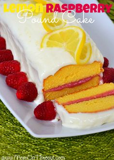 Lemon Raspberry Pound Cake: Mom on Timeout