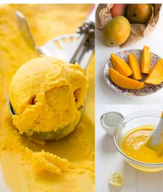 Helado de mango casero / http://thepatternedplate.com/