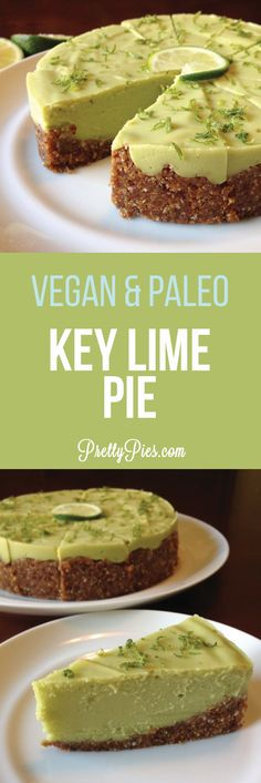 Amazingly creamy Key Lime Pie made with avocado! #vegan #Paleo recipe from Pretty Pies