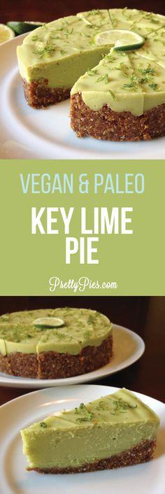Lime Pie (Vegan, GF, Paleo) Amazingly creamy Key Lime Pie made with avocado! recipe from Pretty PiesAmazingly creamy Key Lime Pie made with avocado! recipe from Pretty Pies Raw Desserts, Healthy Sweets, Health Desserts, Paleo Key Lime Pie, Dessert Diet, Raw Food Recipes, Cooking Recipes, Dip Recipes, Avocado Recipes
