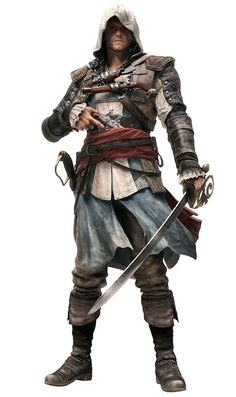 View an image titled 'Edward Kenway Art' in our Assassin's Creed IV: Black Flag art gallery featuring official character designs, concept art, and promo pictures. Arte Assassins Creed, Assassins Creed Black Flag, Edward Kenway Costume, Assassin's Creed Edward Kenway, Character Concept, Character Art, Concept Art, Character Costumes, Character Portraits