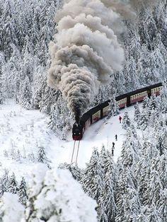 Snow Train, Wernigerode,Germany༺ ♠ ༻*ŦƶȠ*༺ ♠ ༻