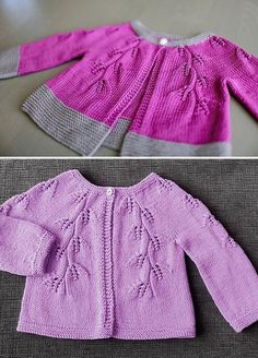 Ravelry: Fiona Cardigan pattern by Adeline TooFiona is a hip length lace cardigan. It is knitted flat from the top down, with one button fastening at the collar. The yoke shaping increases are incorporatedAutumn Leaves Cardigan Free Knitting Pattern Kids Knitting Patterns, Baby Sweater Patterns, Baby Cardigan Knitting Pattern, Shrug Pattern, Knitted Baby Cardigan, Knit Baby Sweaters, Baby Pullover, Lace Cardigan, Knitting For Kids