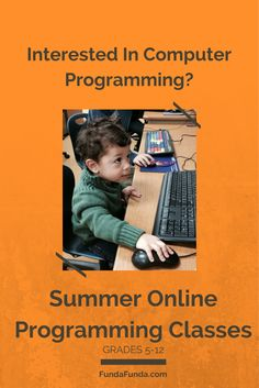 Fun online classes that teach students to program games. Introductory, Scratch and Python are offered