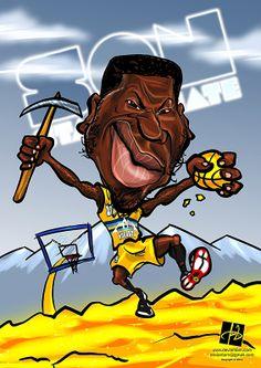 Nate Robinson Denver Nuggets S.O.N. Caricatures by Tomislav Zvonarić, via Behance