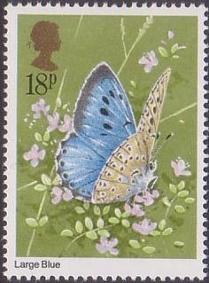 Butterflies 18p Stamp (1981) Maculinea arion