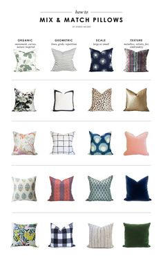 How To Mix & Match Pillows
