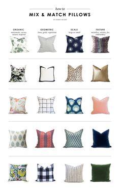 How To Mix & Match Pillows