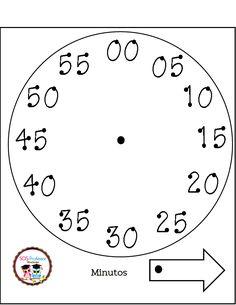 Preschool Supplies, Preschool Math, Teaching Math, Maths, Make A Clock, Telling Time, Math For Kids, I School, Second Grade
