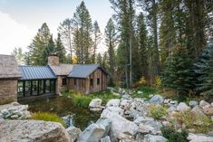 See Inside This Rustic Home Built With Former Homestead Cabins From the Rocky Mountains - Indoor- Outdoor Dining Room Photos Contemporary Stairs, Contemporary Garden, Contemporary Home Decor, Contemporary Architecture, Contemporary Building, Pavilion Architecture, Contemporary Apartment, Contemporary Chandelier, Contemporary Bathrooms