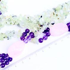 Amethyst, Prehnite and Pink Quartz Statement Necklace Pink Quartz, Timeless Elegance, Statement Necklaces, Beautiful Necklaces, Amethyst, Stud Earrings, Deep, Elegant, Crafts
