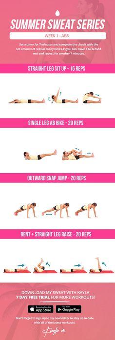 summer sweat series friday week 1