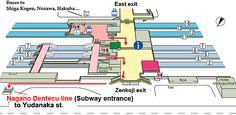 Nagano station - Map