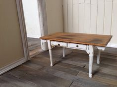 Shabby Chic Distressed Miniature Dollhouse Table by SmallScaleLiving, $24.00