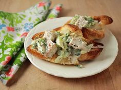 Damaris Phillips' Fried Chicken Salad Sandwiches are crisp, rich and just a little bit spicy.