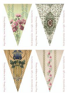 Wings of Whimsy: Sears Vintage Wallpaper Flags #vintage #ephemera #freebie…