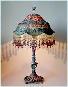 Like the gray brown antique victorian beaded fringe lamp crafts antique victorian beaded fringe lamp crafts pinterest victorian beads and lights aloadofball Choice Image