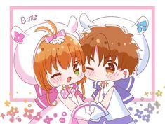 Sakura Card Captor, Cardcaptor Sakura, Syaoran, People Illustration, Illustration Art, Boruto, Clear Card, Magic Cards, Cute Chibi