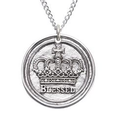 Sterling Silver Cross Blessed Crown Necklace