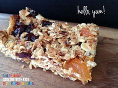 Seriously delicious. Easy to make. Perfect for kids. Kid-Friendly Granola Bars