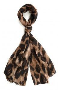 Fall Fashion Pick — Brown And Black Leopard Print Scarf | Saffluence