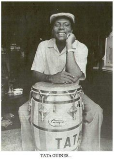 """TATA GUINES.....""""Federico Arístides Soto Alejo """" (Muere en La Habana, Cuba el 04 de Febrero del año 2008) (78 años). Excepcional Percusionista cubano."""