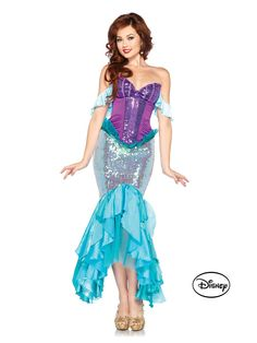 Deluxe Disney Princess Ariel Costume   Sexy The Little Mermaid Costumes