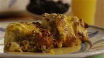 Assemble the ingredients the night before, and bake this casserole in the morning. Stand back and wait for the compliments. I've made it with fat free cottage cheese, egg substitute, and reduced fat sausage; the taste is still wonderful!