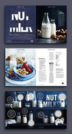 Nut Milk See more editorial design from this magazine designer … – fashion editorial layout Ppt Design, Design Social, Design Brochure, Poster Design, Design Blog, Book Design, Booklet Design Layout, Menu Layout, Page Layout Design