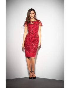 40ebdafcda Gina Bacconi Annabelle Embroidered Dress Plus Size Ruhák, Flitteres Ruha