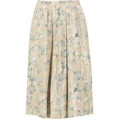Acne Romantic printed taffeta midi skirt ($285) ❤ liked on Polyvore
