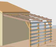 How to build a lean-to shed roof. More