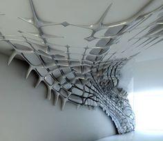 Installation art. Organic forms. Art.